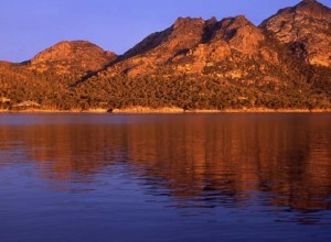 Enjoy Sunset as The Hazards Mountain Range is lit up over Freycinet National Park